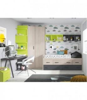 Dormitorio Juvenil Rústico Colonial 21