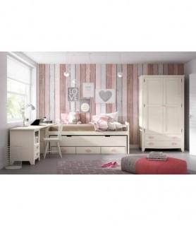 Dormitorio Juvenil Rústico Colonial 22