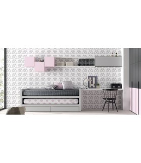 Dormitorio Juvenil Rústico Colonial en Móstoles Modelo 16