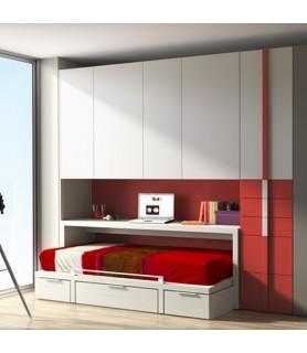 Dormitorio Juvenil Rústico Colonial en Madrid 29