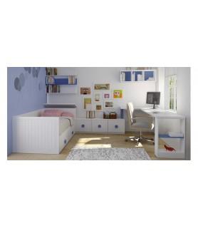 Habitación Juvenil Rústica Colonial en Móstoles Modelo 35