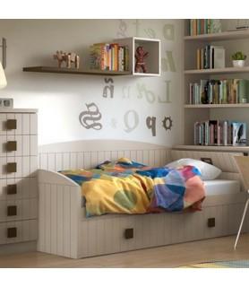 Dormitorio rústico juvenil en Madrid Modelo 40