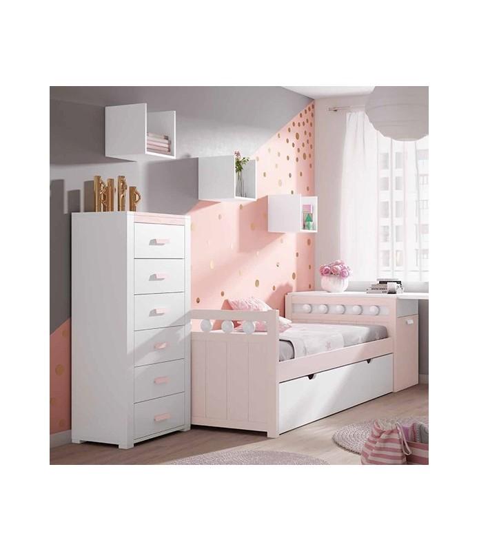 Dormitorio Moderno color blanco Modelo 6